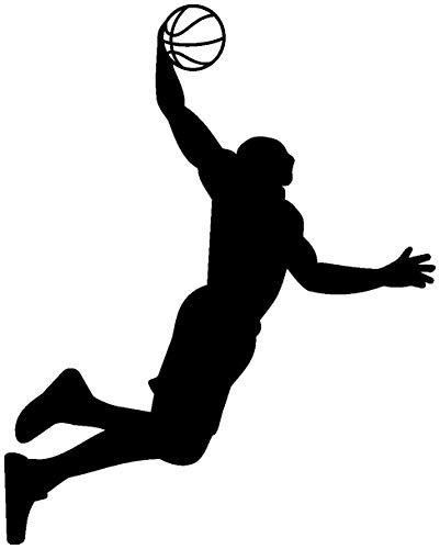 Samunshi® Aufkleber Basketball Slam Dunk Autoaufkleber in 8 Größen und 25 Farben (8x10cm schwarz)