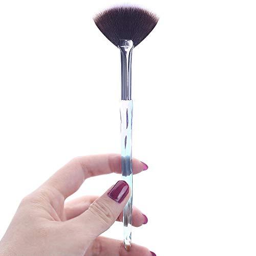 Fanxp® Maquillage Brosses Outil Doux Professionnel Éponge Naturel Poudre Surligneur Artiste Visage Beau Titulaire Haute Qualité Sourcils Brosse-E_Chine