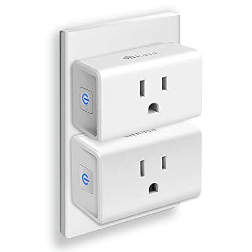 Kasa Smart Plug Ultra Mini 15A, Smart Home Wi-Fi Outlet Works with Alexa, Google Home & IFTTT, No Hub Required, UL Certified, 2.4G WiFi Only, 2-Pack(EP10P2) , White
