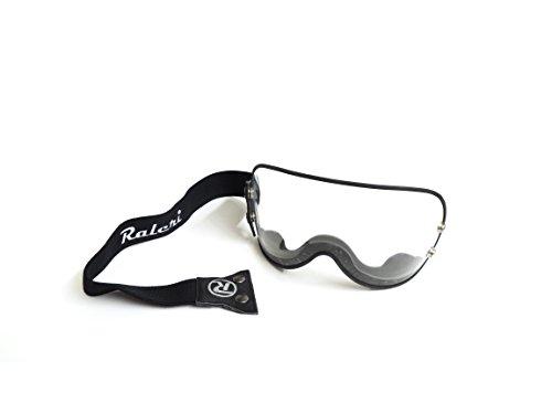 Raleri - Visera universal transparente, con correa elástica, para cascos Café Racer y Custom