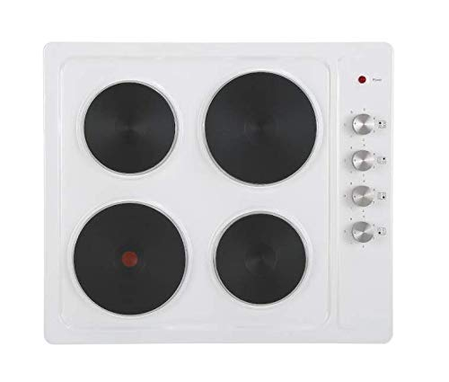 Cookology SEP601WH 60cm Built-in Solid Plate Electric Hotplate Hob in White