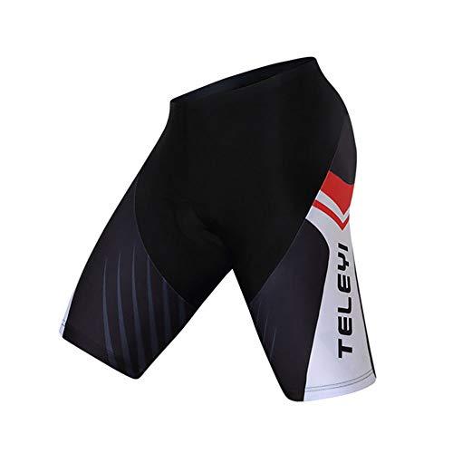 YYDM Gel Acolchados Pantalones Cortos de Ciclista, Cuesta Abajo Bicicleta de montaña Pantalones Cortos/Pantalones Apretados de montaña, Bicicletas de Carretera Pantalones Cortos,1,L