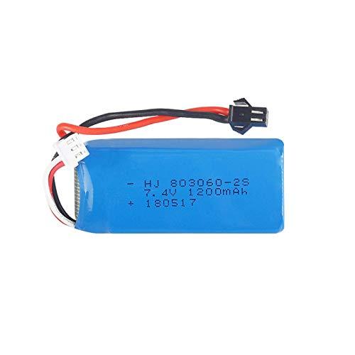 Grehod 7.4V 1200mAh 2S Batteria Lipo SM Spina per H26 H26C H26W H26D H26HW Ricambi per elicotteri telecomandati Drone 1PCS