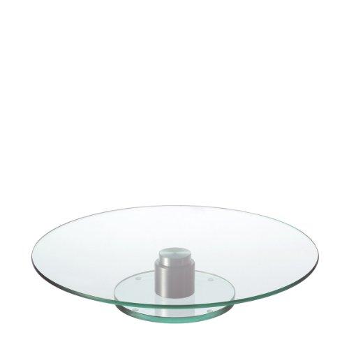 LEONARDO HOME Turn Torten-Platte mit Fuß, drehbarer Torten-Teller, Glas-Platte für Torten und Kuchen, Ø 330 mm, 044064