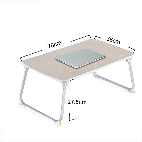 Tables HAIZHEN Pliable Bureau d'ordinateur Portable, d'étude Pliable, Bureau lit Portable (Taille : A70*36 * 27.5CM)