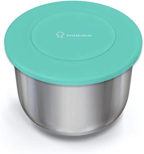 Silicone Lid Fits Instant Pot - 6 Quart Inner Pot Cover for IP Duo-60, Nova, Plus, Max, Lux, Gem, Viva, Smart Wifi & More - Best Insta-Pot Sealing Lid for 6 QT Pressure Cookers – Fits 5qt 6qt Models