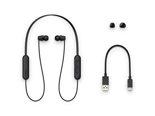 Sony WI-C200 Wireless in-Ear Headset/Headphones with mic for Phone Call, Black (WIC200/B) 3