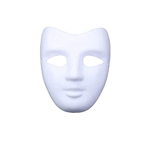 Meimask Bricolaje Papel Blanco máscara de Pulpa en Blanco máscara Pintada a Mano Personalidad Creativa máscara de diseño Libre 5 Piezas (5 Piezas, Cara)
