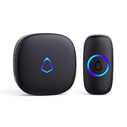 SECRUI Wireless Doorbell, Waterproof Mini Doorbell 1,000ft Range Loud Enough with 5 Volume Levels...