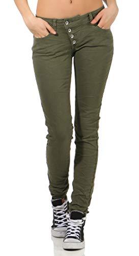 Buena Vista Damen Jeans Malibu Oliv (45) XXS