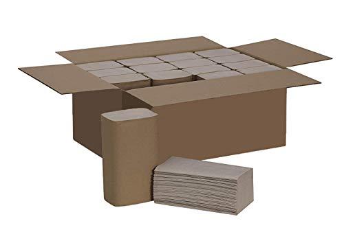 5.000 Blatt Papierhandtücher Premium Falthandtuch Natur 1-lagig 25 x 23 cm ZZ-Falz [100% Recyclingmaterial, BLAUER ENGEL]