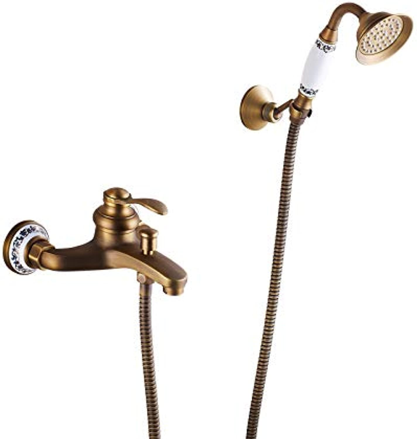 Modern Shower Set, Simple Wall-Mounted Hot and Cold Shower, Hand Shower Head