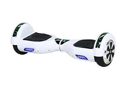 Robway W1 Hoverboard - Das Original - Samsung Marken Akku - Self Balance - 22 Farben - Bluetooth - 2 x 350 Watt Motoren - App - Led (Weiß Matt)