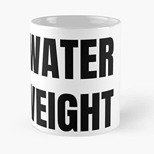 It's Just Water Weight Nikocado Avocado - Taza de cerámica de mármol blanco