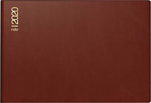 rido/idé 701750229 Taschenkalender Septimus (2 Seite = 1 Woche, 152 x 102 mm, Kunststoff-Einband bordeaux, Kalendarium 2020)