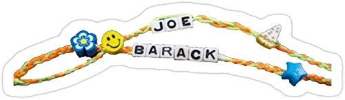 DKISEE Paquete de 3 pulseras de la amistad Joe and Barack troqueladas para laptop, ventana, coche, parachoques, casco, botella de agua de 4 pulgadas