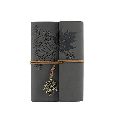 RipengPI Notizbuch, Leder, Schreibtagebuch, klassisches Spiralbindung, nachfüllbares Tagebuch