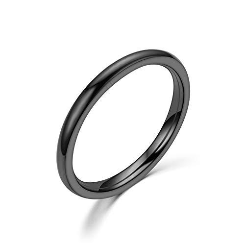 Rings Women, NOSENON All-Around Rings for Women (Black)