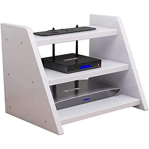 HSSZ Rack de enrutador, Caja de Almacenamiento de enrutador, Caja WiFi inalámbrica, Rack de decodificador, Accesorios Multimedia, Rack de Servidor de Tres Capas.