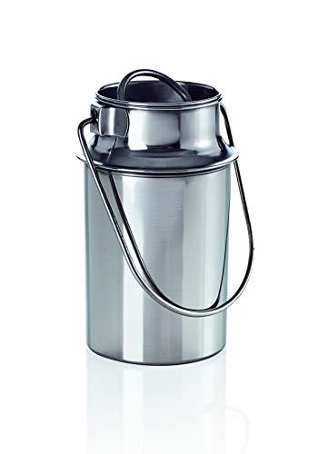 Transportkanne 6,0 ltr. Milchkanne Transportbehälter Metall Edelstahl Kanne Milchkrug