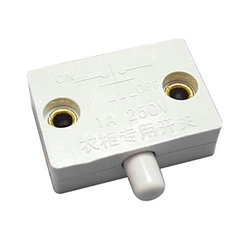 Qinghengyong Armario Interruptor de restablecimiento del gabinete del hogar Armario Armario Armario automático automático de la luz del Interruptor de reajuste de luz, 100pcs
