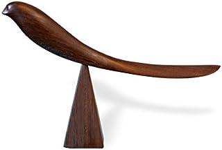 靴べら くつべら 木製 スタンド SHOEHORN ミャンマー 親鳥の靴べら 手作り 鳥 木製 鉄刀木 ツゲ 貴重な銘木 (鉄刀木(濃茶))