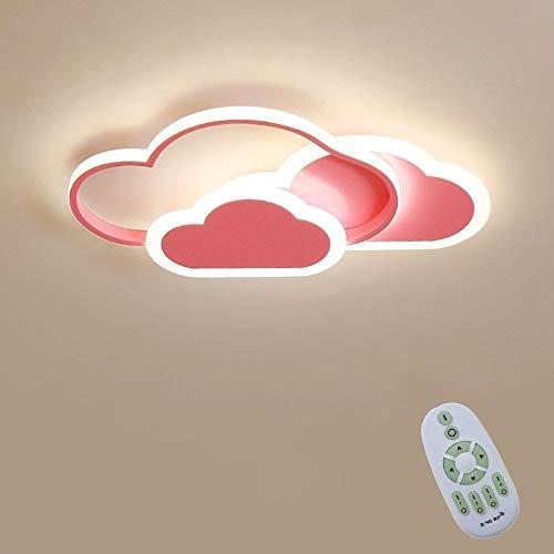 De Techo del LED, Luz De Techo Creative Cloud, con Control Regulable 6 Cm Ultra-Delgada Blanco Y Rosa De La Lámpara De Techo A Distancia, For Infantil Parvulario Habitación Sala Iluminación De
