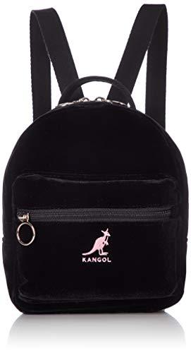 [カンゴール] リュック ベロア調 カンゴールロゴ刺繍 ミニ ピンク刺繍 One Size