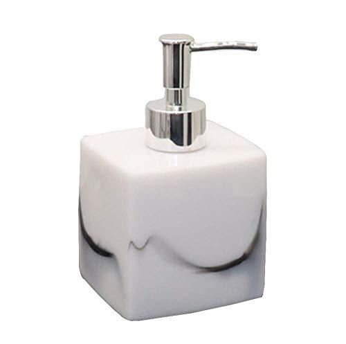 Distributeur de savon pour salle de bain Distributeur de shampoing [Blanc 02]