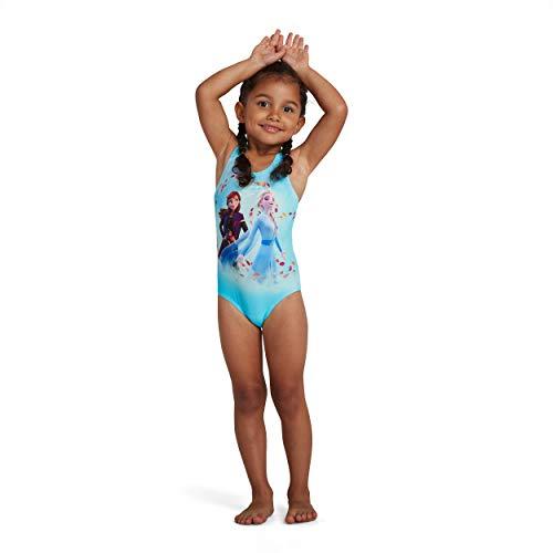Speedo Disney Frozen 2 Digital Placement Costume da Bagno da Bambina