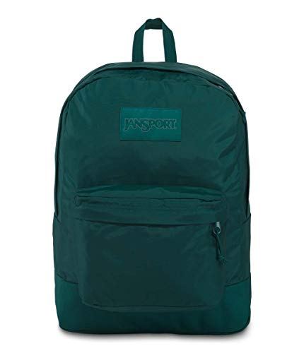 JanSport Mono SuperBreak Backpack - Monochrome Trend Collection Laptop Bag, Mystic Pine