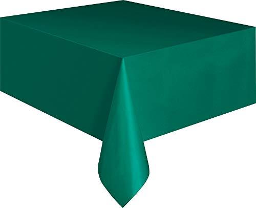 Kunststoff-Tischdecke - 2,74 m x 1,37 m - Waldgrün