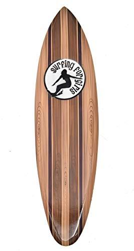 Interlifestyle Surfer Girl - Tabla de surf (madera, 80 cm)
