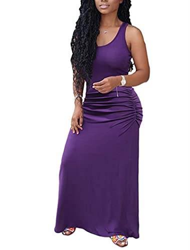 Nuevo Vestido Sexy Plisado de Color sólido