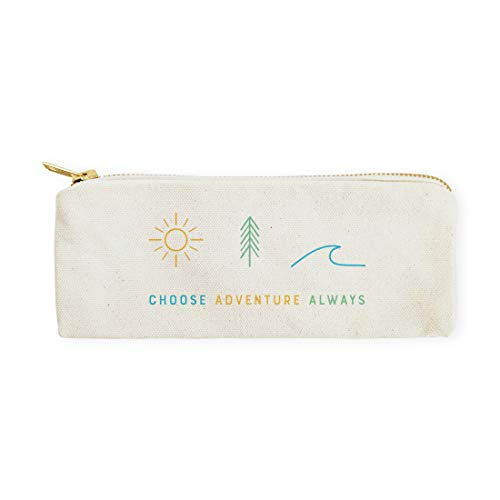 The Cotton & Canvas Co. Choose Adventure Always Summer, Beach Pencil Case, Cosmetic Case and Travel Pouch for Office and Back to School