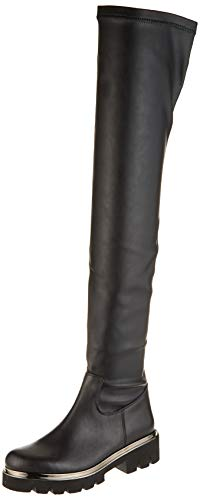 Fersengold Damen 298-376 Hohe Stiefel, Schwarz Schwarz Schwarz, 38 EU