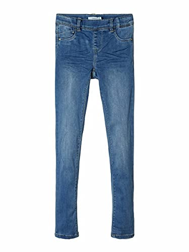 NAME IT Mädchen Nkfpolly Dnmtora 2311 Legging Noos Jeans, Medium Blue Denim, 98 EU