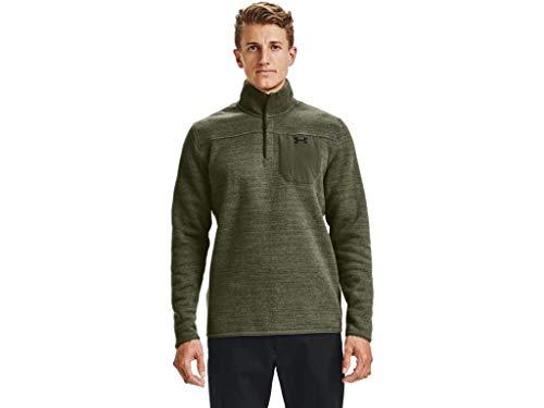 Under Armour Specialist Henley 2.0 - Camiseta con cremallera para hombre - 1316276, Specialist Henley 2.0 - playera con cierre 1/4, 3XL, verde od marino (390)/negro