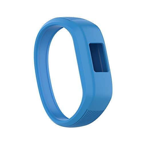 XUEXIU Niños Suaves Silicone Smart Watch Band Sports Reemplazo De Pulseras Pulsera Correa De Muñeca para Garmin VIVOFIT JR 2 / VIVOFIT 3 (Color : Blue, Size : S)