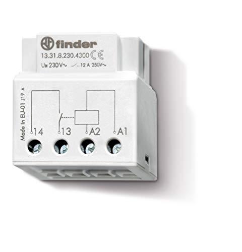 Finder 133182304300PAS Relais zum Einbau an der Dose/hinter der Steuertafel, 1Schließer, 230VAC, 12A bei 250VAC