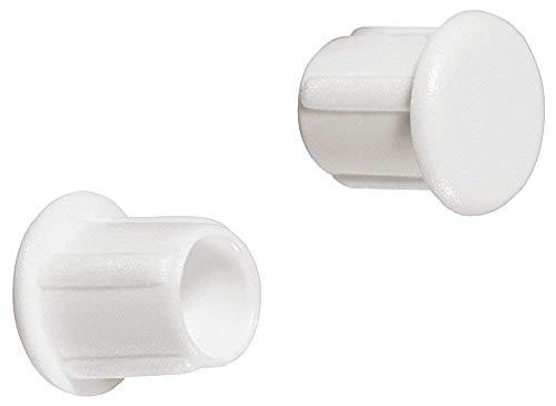 Gedotec Schrauben-Kappen zum Einpressen Möbel-Abdeckkappen rund Blindstopfen weiß | H1124 | für Blindbohrung | Ø 5 mm | 50 Stück