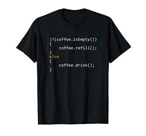 Programmierer Kaffee Coding Programmer Coffee T-Shirt