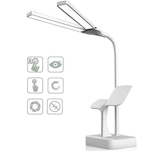 Lámpara Escritorio LED,Lámparas de Mesa USB Recargable Regulable,Plegable Luz Lámpara Escritorio Lámpara de Lectura(3...