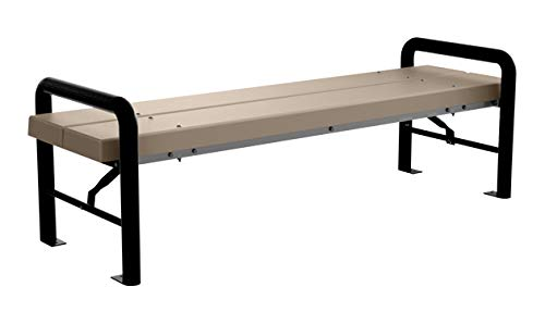 Kirby Built Products Modern BarcoBoard Backless Bench - Portable/Surface Mount (6 Foot, Desert Tan)