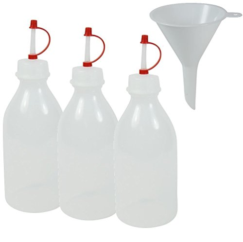 mikken 3 Spritzflaschen BPA frei Made in Germany - inkl. Einfülltrichter a 250ml, Plastik, Weiß, 3X, 10