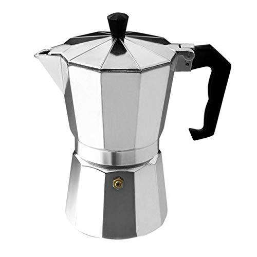 AnamSafdarButt59 Aluminium 8-Winkel Moka Pot Espresso Herd Kaffeemaschine Moka Espressotasse Continental Moka Perkolator Pot 3cup / 6cup