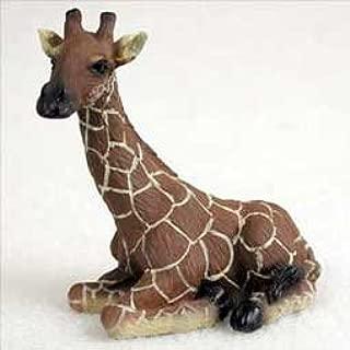 Sitting Giraffe Miniature Resin Figurine