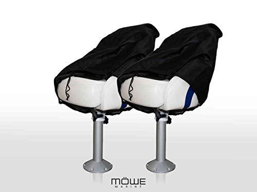 MÖWE MARINE 2-delige set afdekking voor bootstoelen zwart beschermhoes stoelbeschermer stuurstoel artikel 3250