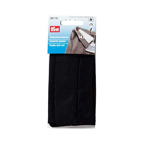 Prym 20 x 14 cm bolsillo de seguridad con cremallera, negro