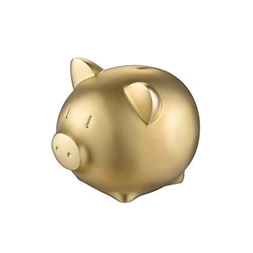 XUANLAN Cerdo de Oro Forma Piggy Bank Cobre Moneda Grande Piggy Bank decoración Regalo Creativo